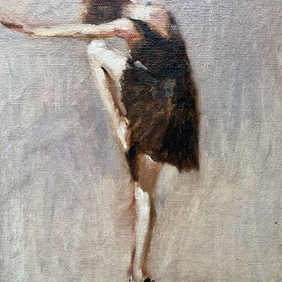 ballet dancer painting