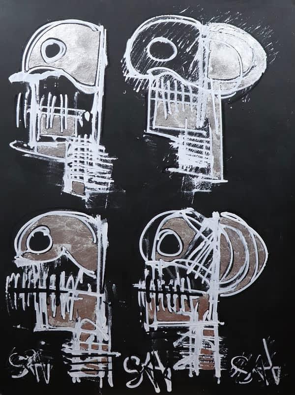 neo expressionist skull